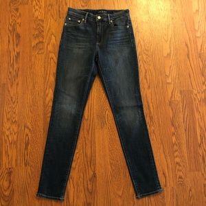 Lucky Brand Dark Wags Bridgette Skinny Jeans Sz 2